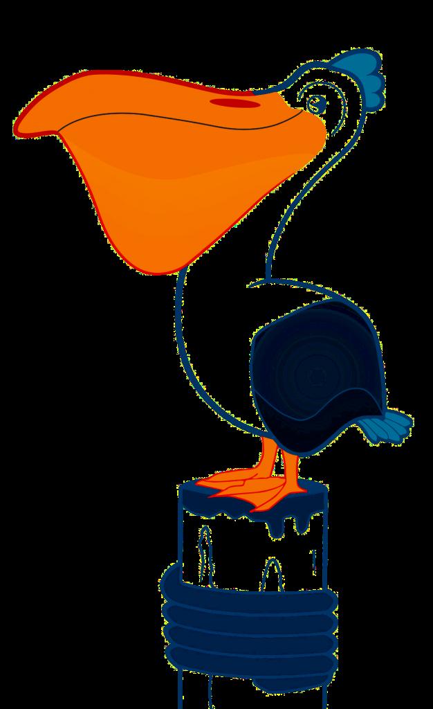 Dry Dock Fish Pelican Logo