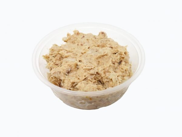 Container of crab mix