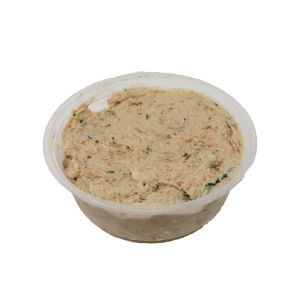 Container of salmon dip