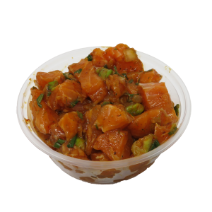 Container of salmon poke