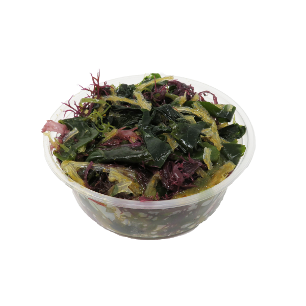 Container of sea salad