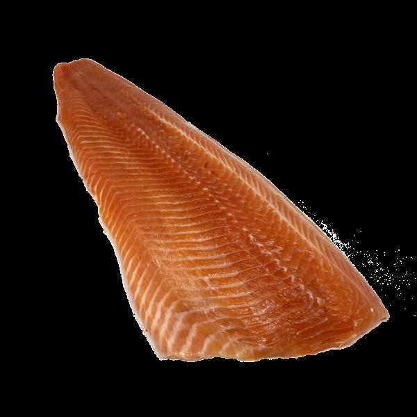 Cut of steelhead fish